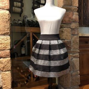 Black and silver bubble party skirt